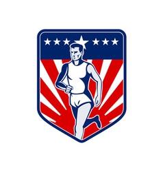 American Marathon runner stars and stripes vector image