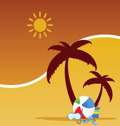 Summer stuff color vector
