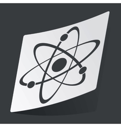 Monochrome atom sticker vector