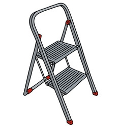 Metal small stepladder vector