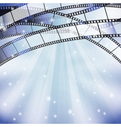 Background with filmstrip vector