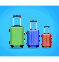 Three travel bag isolated on background vector