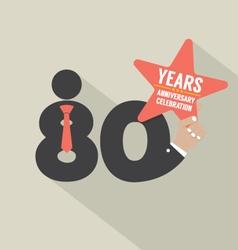 80 years anniversary typography design illu vector