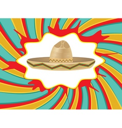 Mexican hat sombrero2 vector