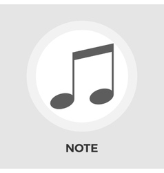 Note flat icon vector