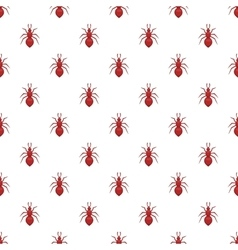 Ant pattern cartoon style vector