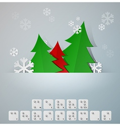 Braille alphabet christmas background banner with vector