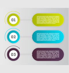 business infographics modern concept set vector image