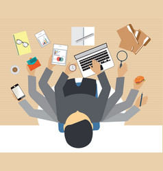 busy business people working hard vector image vector image