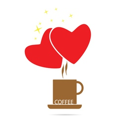 coffee love color vector image vector image