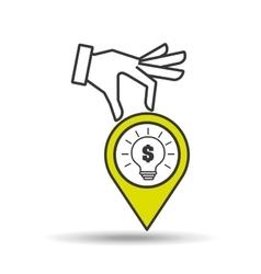 concept e-commerce idea bulb graphic vector image