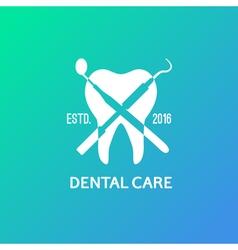 Dental logo emblem vector