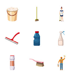 detergents icons set cartoon style vector image vector image