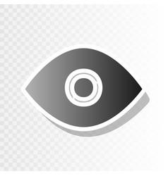 eye sign new year blackish vector image vector image