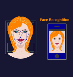 Face recognition biometric security system with a vector