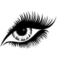 female eye black silhouette vector image