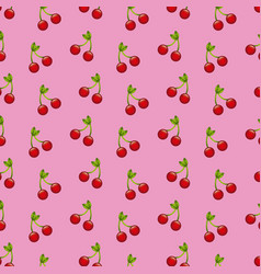 fruit cherry food harvest seamless pattern vector image