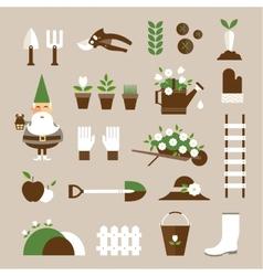 Garden icons vector