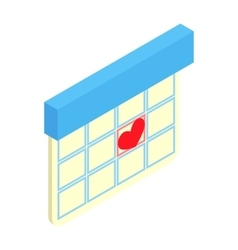 Love date isometric 3d icon vector