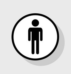 Man sign flat black icon in vector