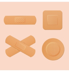 Medical adhesive plaster first protection for cut vector