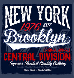 new york city brooklyn grunge background vector image