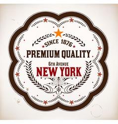 Premium Quality card Baroque ornaments vector image vector image