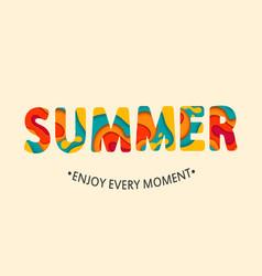 Summer card enjoy every moment vector