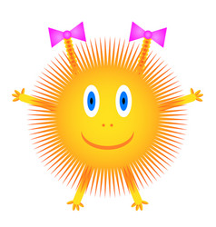 Sun icon on white vector