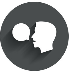 Talk or speak icon speech bubble symbol vector