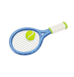 tennis racket and ball vector image vector image
