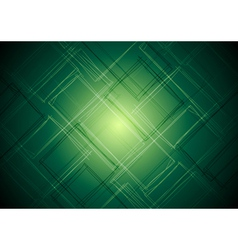 Vibrant green tech design vector image