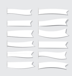 white ribbons vector image