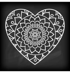 Doodle Heart Mandala vector image