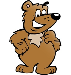 Hand-drawn of an Happy Proud Brown Bear vector image