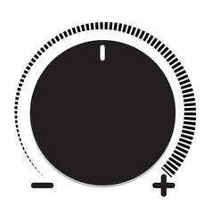 volume control icon volume control on white vector image