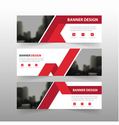 Red triangle abstract polygon corporate business vector