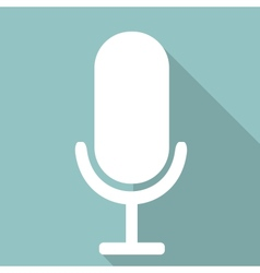 Microphone web icon flat design vector