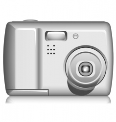 Compact digital photo camera vector