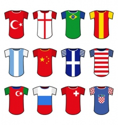 National soccer uniform vector