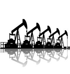 Oil pumps vector image