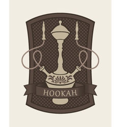hookah sign vector image