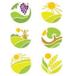 Collection of logos - agriculture vector