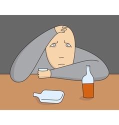 Depressive person vector