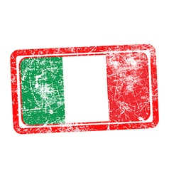 Italy flag red grunge rubber stamp vector