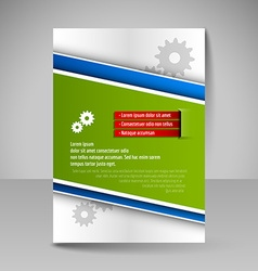 Template of flyer for business brochures vector