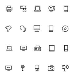 Electronics stroke icons 1 vector