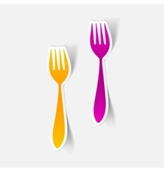 Realistic design element fork vector