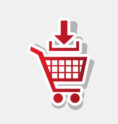 add to shopping cart sign new year vector image vector image