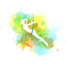 aero yoga watercolor vector image vector image